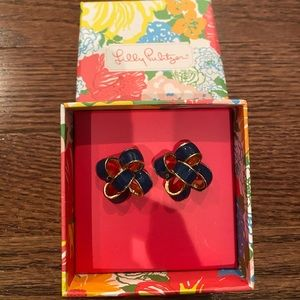 New - Lilly Pulitzer post bow earrings